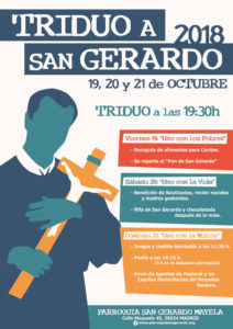 Triduo a San Gerardo 2018: 19, 20 y 21 de octubre