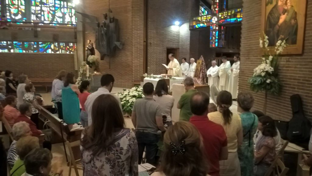 Imagen de una celebración en la Parroquia de San Gerardo en Madrid.