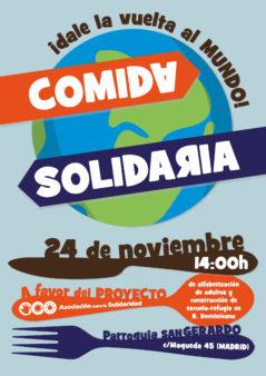 Comida Solidaria, el 24 de noviembre en la Parroquia de San Gerardo