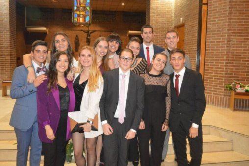 Jóvenes que se confirmaron el pasado 17 de noviembre en la parroquia.