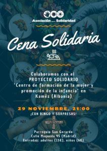 Cartel Cena Solidaria 2019