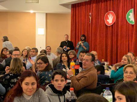 El Obispo Jesús Vidal en la Cena Solidaria