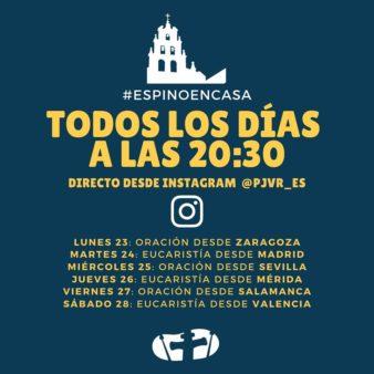 Sigue la oración en Instagram: https://www.instagram.com/pjvr_es/